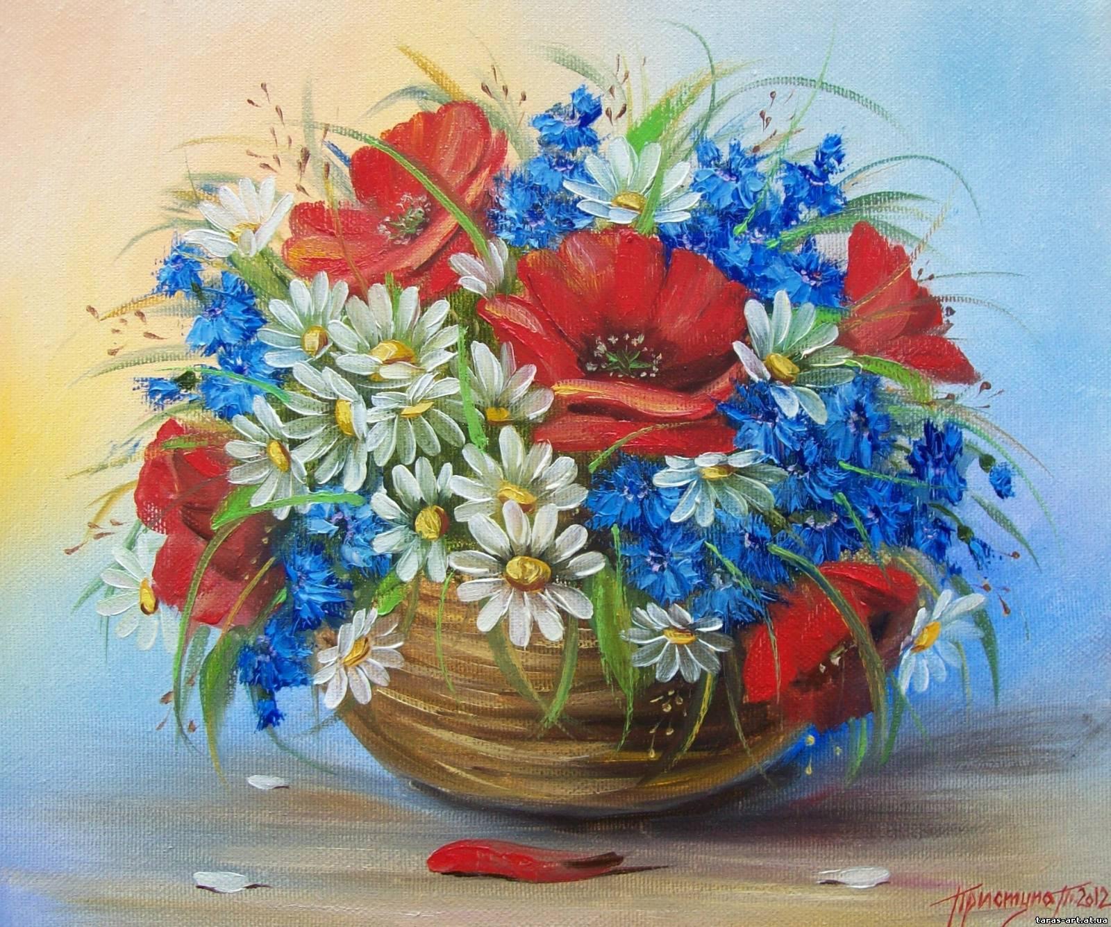 натюрморти з квітами: